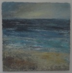Night Sea, oil painting by Donegal artist Seamus Gallagher